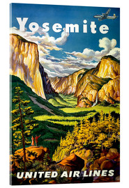 Acrylic glass  Yosemite United Air Lines