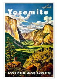 Premium poster  Yosemite United Air Lines - Travel Collection