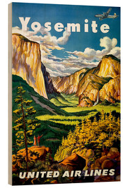 Wood print  Yosemite United Air Lines - Travel Collection
