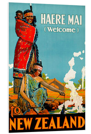 Foam board print  Haere Mai welcome to New Zealand - Travel Collection
