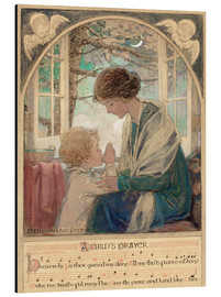 Aluminium print  A Child's Prayer - Jessie Willcox Smith