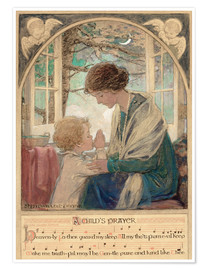 Premium poster  A Child's Prayer - Jessie Willcox Smith