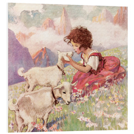 Foam board print  Heidi - Jessie Willcox Smith