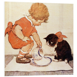 Foam board print  A Little Childs Book of Stories 2 - Jessie Willcox Smith