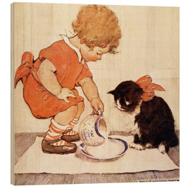 Wood print  A Little Childs Book of Stories 2 - Jessie Willcox Smith
