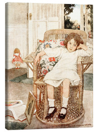 Canvas print  Girl sitting upset in a chair  - Jessie Willcox Smith