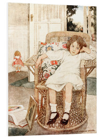 Forex  Girl sitting upset in a chair  - Jessie Willcox Smith