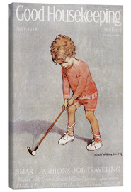 Canvas print  golf art jessie - Jessie Willcox Smith