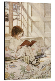 Alu-Dibond  Picture Books in Winter - Jessie Willcox Smith