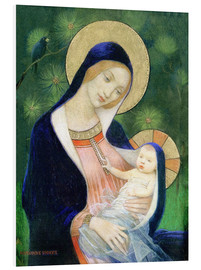 Foam board print  Madonna and child - Marianne Stokes