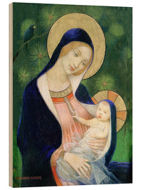 Wood print  Madonna and child - Marianne Stokes
