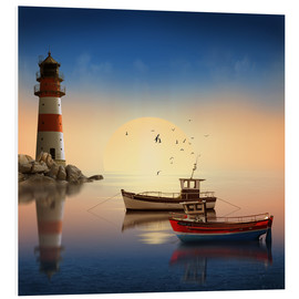 Forex  The morning peace at the lighthouse - Monika Jüngling