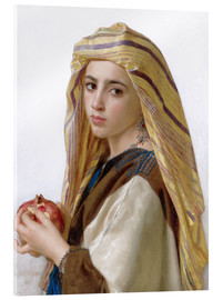 Acrylic glass  Girl with a pomegranate - William Adolphe Bouguereau