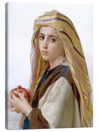 Canvas  Girl with a pomegranate - William Adolphe Bouguereau