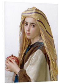 Foam board print  Girl with a pomegranate - William Adolphe Bouguereau