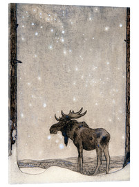 Acrylic print  Elk in the Snow - John Bauer