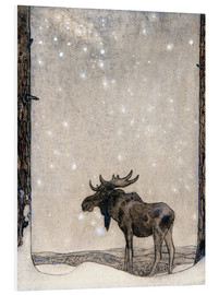 Foam board print  Elk in the Snow - John Bauer
