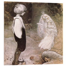 Foam board print  The seven wishes - John Bauer
