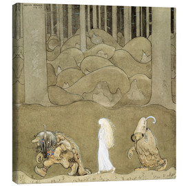 Canvas print  The Princess and the Trolls - John Bauer