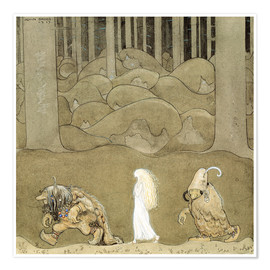 Poster  The Princess and the Trolls - John Bauer