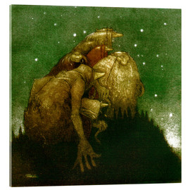 Acrylic print  Trolls in the Starlight - John Bauer