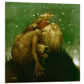 Foam board print  Trolls in the Starlight - John Bauer