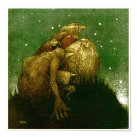Poster  Trolls in the Starlight - John Bauer
