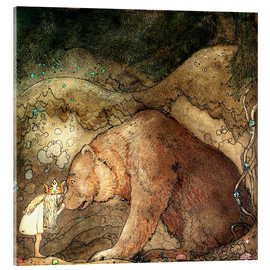 Acrylic print  Poor little bear - John Bauer