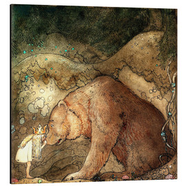 Aluminium print  Poor little bear - John Bauer