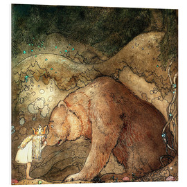 Foam board print  Poor little bear - John Bauer