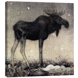 Canvas print  Moose Skutt and Princess Tuvstarr - John Bauer