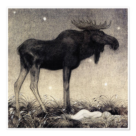 Premium poster  Moose Skutt and Princess Tuvstarr - John Bauer