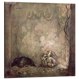 Aluminium print  A Mother's love - John Bauer