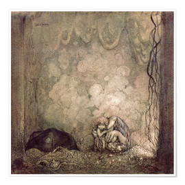 Poster  Mother's love - John Bauer