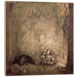 Wood print  A Mother's love - John Bauer