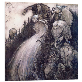 Foam board print  Troll of the forest - John Bauer