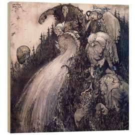 Wood print  Troll of the forest - John Bauer