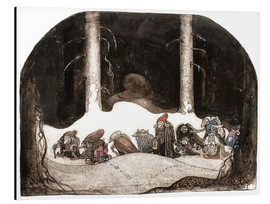 Aluminium print  In the christmas night - John Bauer