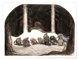 Poster  In the christmas night - John Bauer