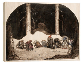 Wood print  In the christmas night - John Bauer