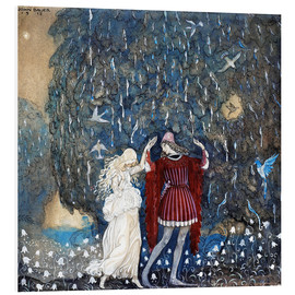 Foam board print  Lena dances with the knight - John Bauer