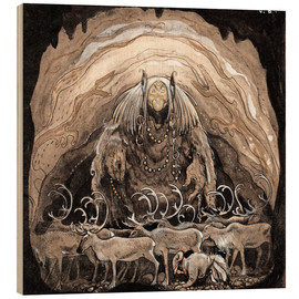 Wood print  Nilas offer - John Bauer