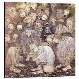 Aluminium print  The trolls and the gnome boy - John Bauer
