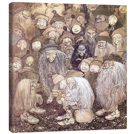 Canvas print  The trolls and the gnome boy - John Bauer