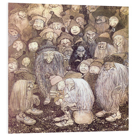 Foam board print  The trolls and the gnome boy - John Bauer