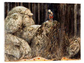 Acrylic print  The Child and the Stone Troll - John Bauer