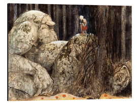 Aluminium print  The Child and the Stone Troll - John Bauer