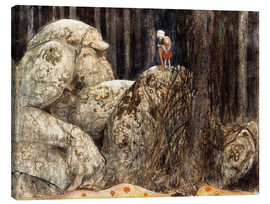 Canvas print  The Child and the Stone Troll - John Bauer