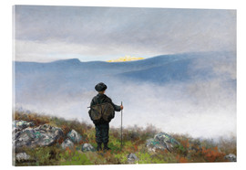 Acrylic print  Far, far away Soria Moria Palace shimmered like Gold - Theodor Kittelsen