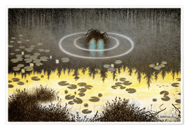 Premium poster  Nøkken, The Monster of the Lake - Theodor Kittelsen